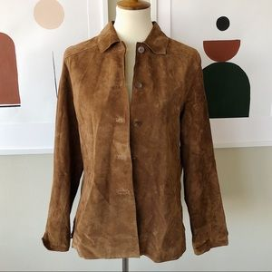 Valerie Stevens 100% Leather Brown Jacket